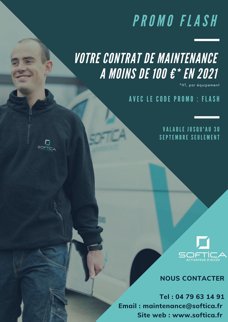 Flyer Promotionnel Contrat de maintenance Softica