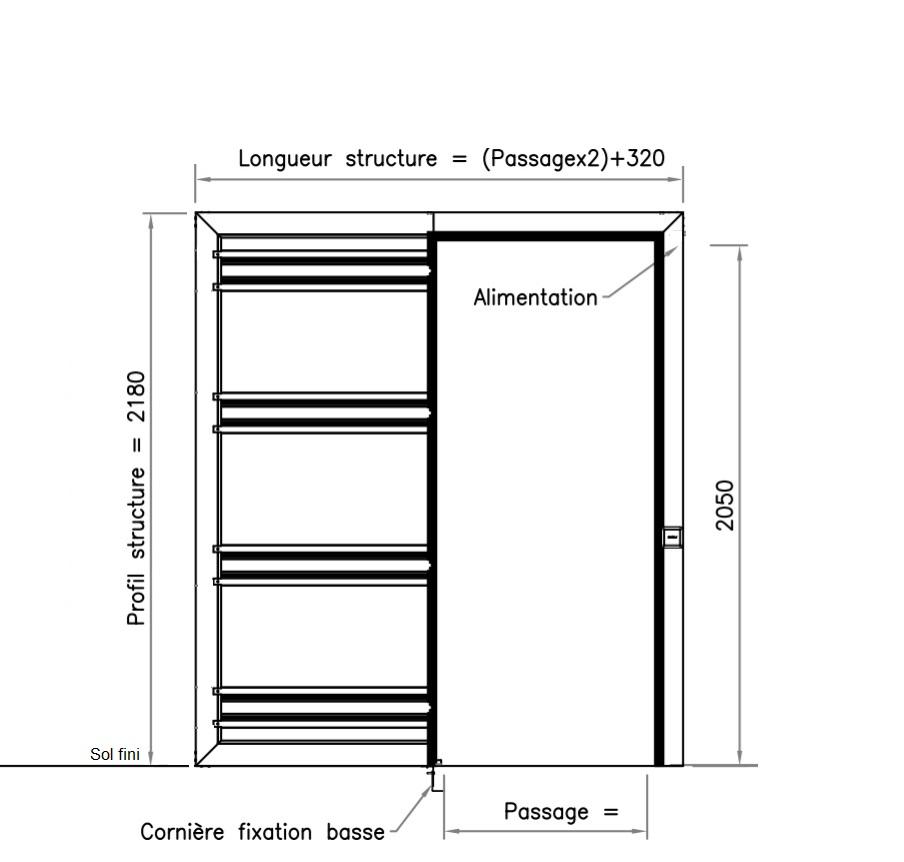 Plan Porte automatique galange Galino Softica